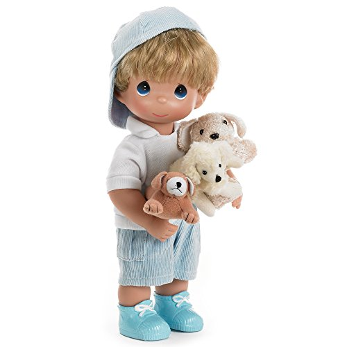 The Doll Maker Precious Moments Dolls, Linda Rick, Puppy Dog Tails, 12 inch Doll