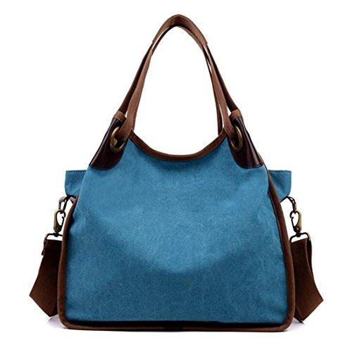 KISS GOLD(TM) Women's Casual Canvas Handbag Travel Tote Bag Shoulder Bag