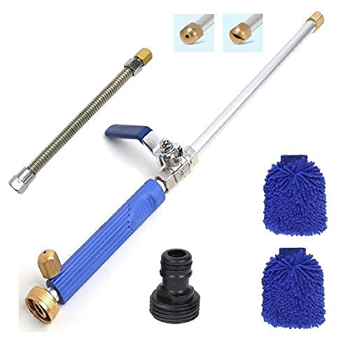 Hydro Jet Power Washer Wand-Magic High Pressure Wand Extendable Power Washer Wand High Pressure Water Hose Nozzle, Flexible Garden Hose Sprayer ()