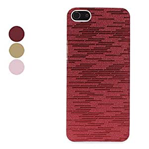 Flash Design Cross Stripe Pattern Hard Case for iPhone 5/5S (Assorted Colors) --- COLOR:Pink