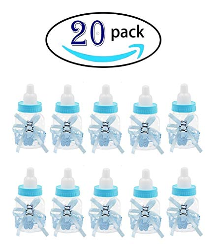 20 Pcs Baby Shower Favor Mini Candy Bottle Gift Box Girl Baby Birthday Parties Decoration(bottle20-2) -