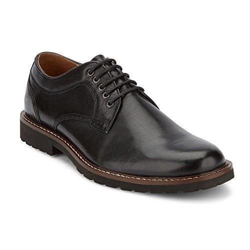 Scarpa Da Uomo In Pelle Di Pecora Nera Con Lacci E Stringatura Alla Caviglia