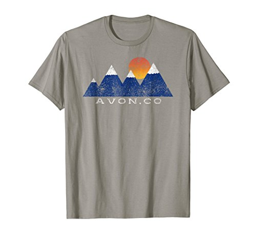 - Vintage Avon Colorado Snowcapped Mountain Sunset T-Shirt