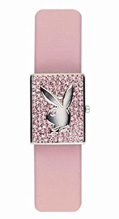 6211ee0cdf00 Playboy Ladies Pink Dial Pink Leather Strap Watch  Amazon.co.uk  Watches