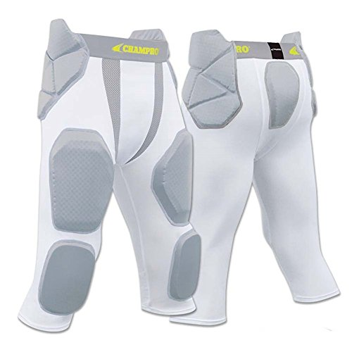 CHAMPRO FPGU7 7 PAD youth and adult GIRDLE FOOTBALL PANTS CP White YOUTH - Girdle Youth