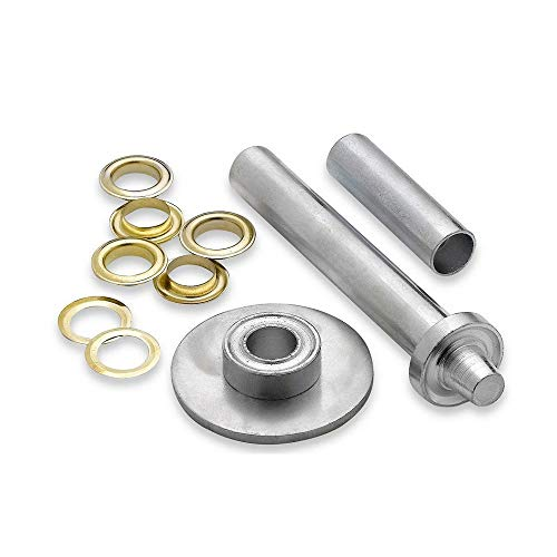 Brass Coated Grommets Set 103 pack - Washers - Heavy Duty Installation Tool - Assorted Kit- By Katzco