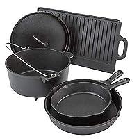 Outdoor Gourmet 5 Piece Cast Iron Cookware Set