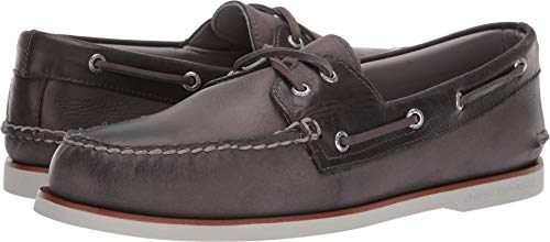 (Sperry Top-Sider Gold Cup Authentic Original Rivingston Boat Shoe Men 10 Grey )