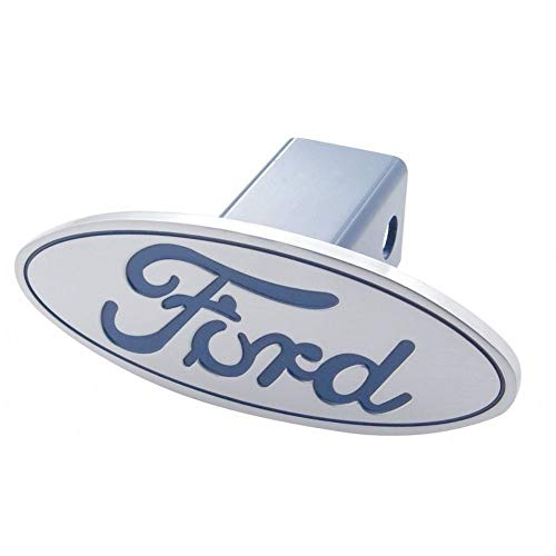 United Pacific Ford Pick Up Truck Billet Aluminum Oval Logo Trailer Hitch Receiver Cover Blue