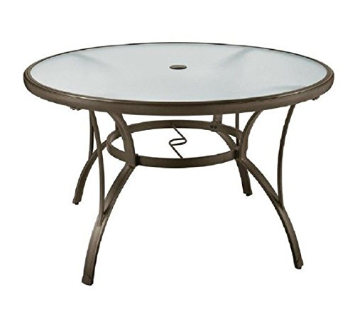 Cheap PF 48″ Patio Round Dining Glass Table Garden Furniture