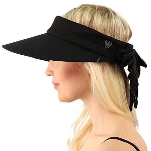 Sun Protection UPF UV Wide Big Brim Linen Cotton Beach Pool Visor Cap Hat (Visor Caps)