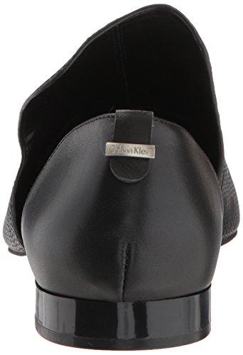 Shiny Loafer Calvin Women's EDONA Klein Black Lizard Flat qWtptYw7