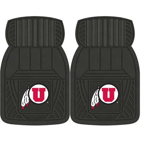 NCAA 4-Piece Front #36572607 and Rear #19888873 Heavy-Duty Vinyl Car Mat Set, University of Utah by Sports Licensing Solutions LLC