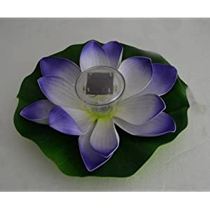 GenLed Waterproof Solar Floating LED Lotus Light, Color-changing Flower Night Lamp /Pond /Garden/house Lights for Pool /Party Fancy Ideal Novel Creative Gift for Christmas (Purple)