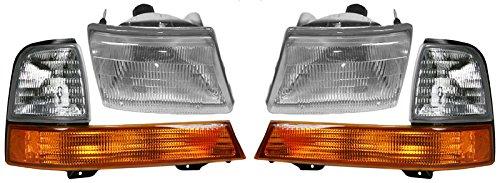 - Headlights Headlamps & Corner Parking Lights Left & Right Set Kit for Ranger