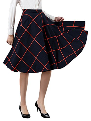 Choies Womens White Plaid Skater