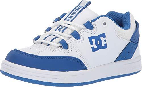 - DC Boys' Syntax Skate Shoe, White/Royal, 13.5 M US Little Kid