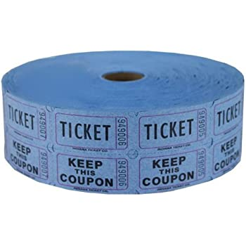 Amazon.Com : Raffle Tickets - (4 Rolls Of 2000 Double Tickets) 8