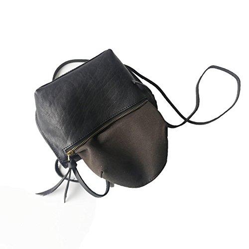 Purse Women Handmade Vintage Leather Small Cell Bags CrossBody Rhathymia Phone Black Genuine wFBqCH