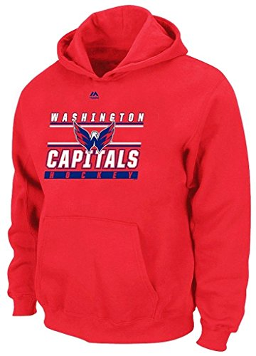 Washington Capitals NHL Majestic Boys Rinkside Pullover Hoodie Youth Sizes (L)