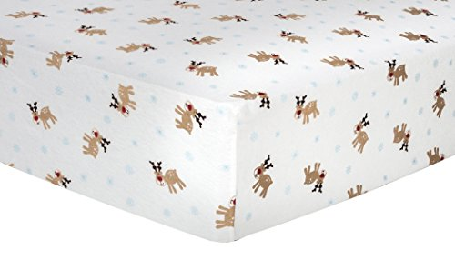 Trend Lab Reindeer Deluxe Flannel Fitted Crib Sheet ()