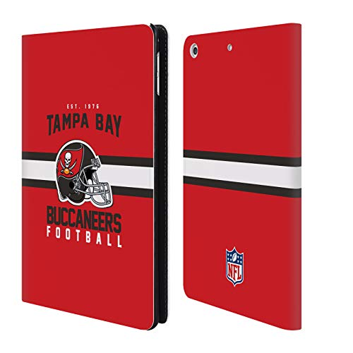 (Official NFL Helmet Typography 2018/19 Tampa Bay Buccaneers Leather Book Wallet Case Cover for iPad Mini 4)
