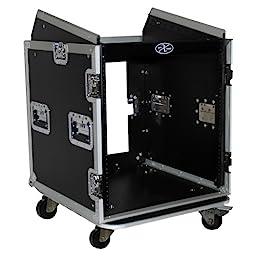 ProX Cases T-12MRSS 12 Space Amp Rack - Slanted Top 10U DJ Mixer Combo Rack Road Gig Ready Flight Case