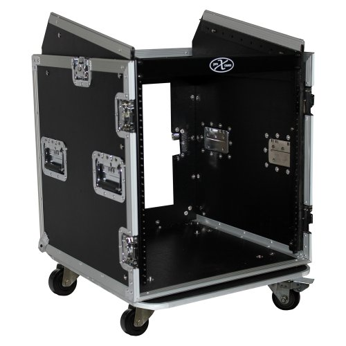 ProX Cases T-12MRSS 12 Space Amp Rack - Slanted Top 10U DJ Mixer Combo Rack Road Gig Ready Flight Case by ProX Cases