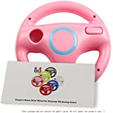 GH Wii U Wii Steering Wheel Peach Pink for Racing Games, Mario Kart Racing Wheels