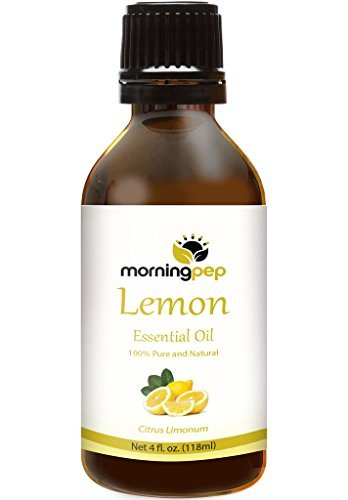 LEMON OIL 4 OZ by Morning Pep Large Bottle Pure And Natural Therapeutic Grade , Undiluted unfiltered and with no fillers, PREMIUM QUALITY Aromatherapy LEMON Essential oil (118 ML) (Pep Therapy)