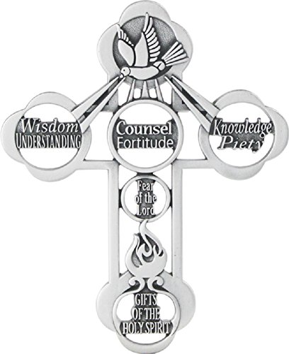 Gifts of the Holy Spirit Message Cross 3.75 in. x 4.75 in.