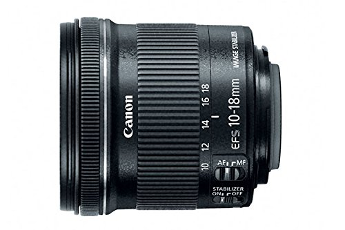 Canon EF-S 10-18mm f/4.5-5.6 IS STM Lens for Canon DSLR cameras (US Model) by Canon