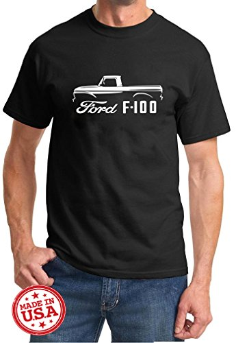 1964 Ford F100 (1961-66 Ford F-100 Pickup Truck Classic Outline Design Tshirt 2XL)