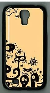 Cartoon Spiders Sakuraelieechyan Samsung Galaxy S4 I9500 Black Sides Hard Shell Case(PC Material)
