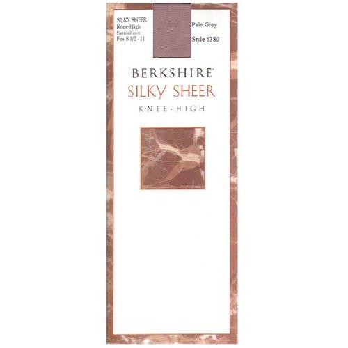 Berkshire Women's Silky Sheer Knee High Sandalfoot Pantyhose, Nude, 8 1/2 - - Knee Highs Berkshire