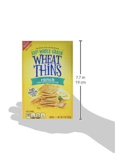 Wheat Thins Ranch Crackers, 9 Ounce (Pack of 6)