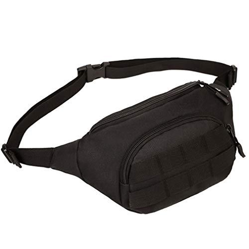 Shoulder Travel Men Nylon Messenger Pack ONEKKME Waist Durable Black Bag Military HS0qx7Fw