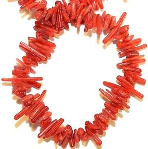 Steven_store CRL124 Red Bambo Coral Cupolini Small 5mm - 14mm Freeform Branch Beads 16