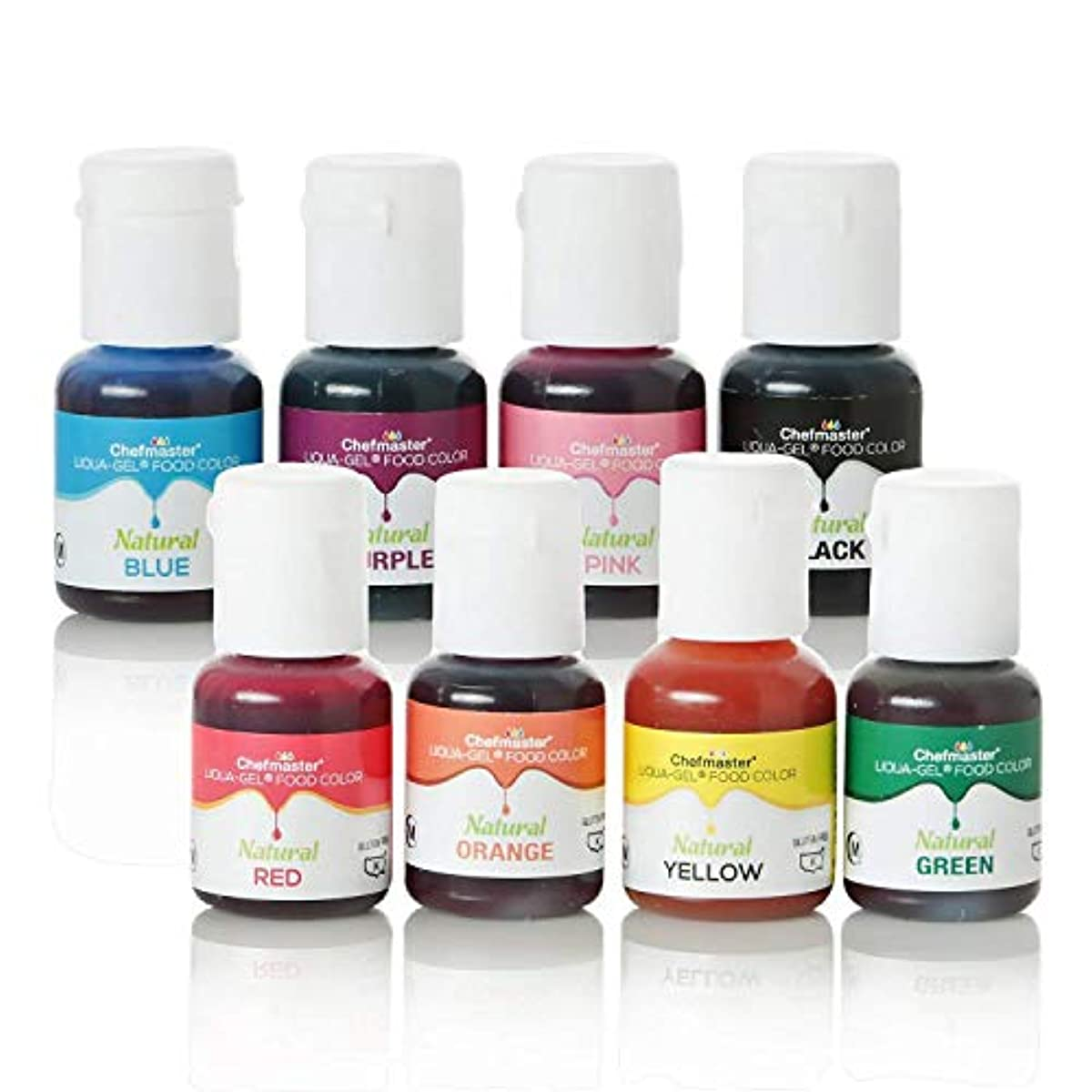 Details about Chefmaster 8 Pack All Natural Vegan-Friendly Dye Food  Coloring for Baking Icing