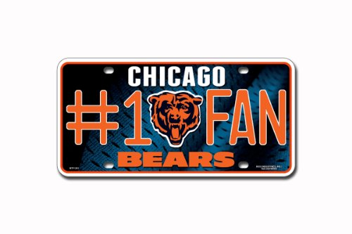 NFL Chicago Bears #1 Fan Metal Auto - Outlet Malls Chicago Best In