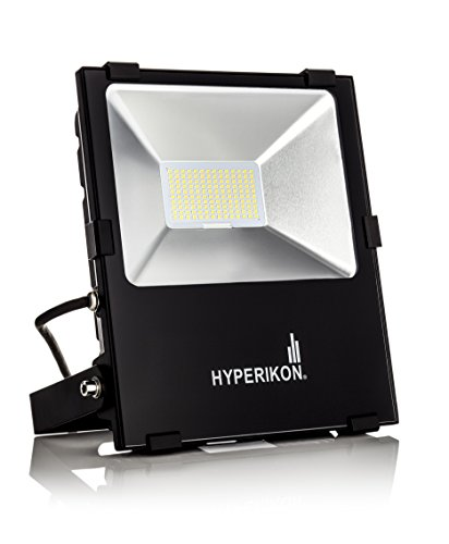 Hyperikon LED Flood Light,100w (500w Equivalent), 5000K (Crystal White Glow), Waterproof, IP65, 120-277v, Instant On, ETL and DLC