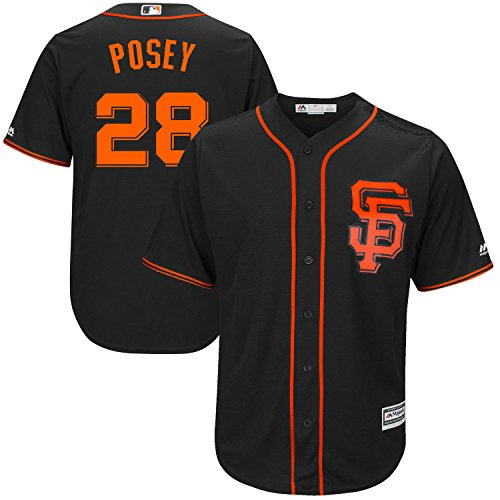 Buster Posey San Francisco Giants Black Youth Cool Base Alternate Replica Jersey