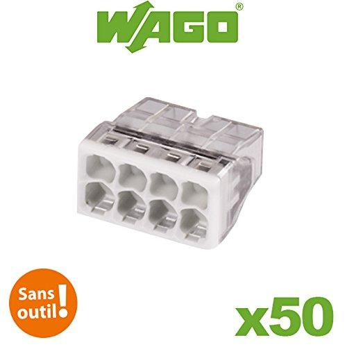 Wago - Pot de 50 mini bornes 8 fils S2273 WAGO