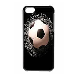 [H-DIY CASE] For Iphone 5c -Love Football-CASE-3