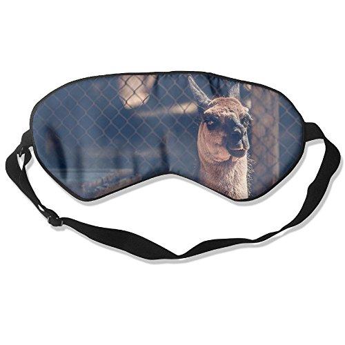 Sleep Mask 100% Natural Silk Eye Mask Glittering Blindfold Camel Look Fence Zoo Eye Cover Unisex Ultimate Sleeping Aid Eyeshade College Zoo