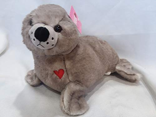 Hug Fun Plush Gray Seal Sea Lion Stuffed Animal Soft Cuddly Pet Pillow Doll ()