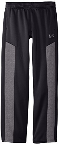 Under Armour Youth Boys' Fleece Storm Pant, Black/Graphite, Youth Small