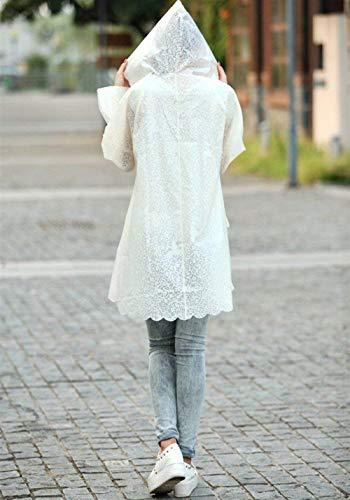 Beige Lighter Impermeabile Giovane Saoye Trasparente Cappotto Travel Riutilizzabile Donna Capispalla Poncho Fashion Da Outdoor YqOCAZw