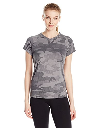Champion Women's Short Sleeve Double Dry Performance T-Shirt, Stone Gray Camo, X-Large ()