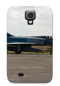 EHFBJNB2056KWWFd With Unique Design Galaxy S4 Durable Tpu Case Cover Aircraft Army Aack Dassault Fighter French Jet Military Mirageiii